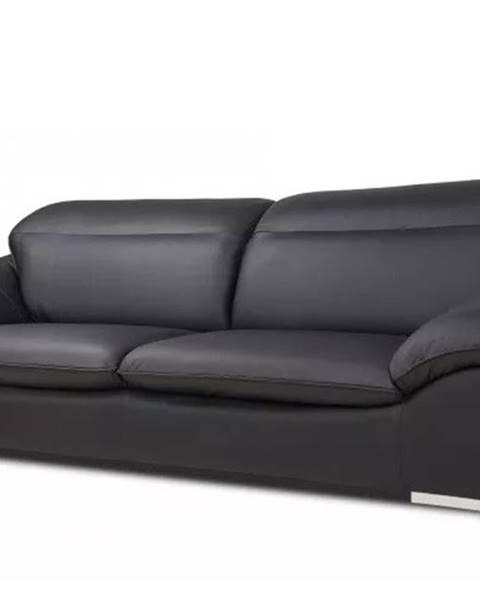 OKAY nábytok Kožená trojsedačka Teresa čierna