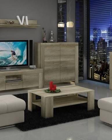 Sky - Obývacia stena, 2x komoda, stolík