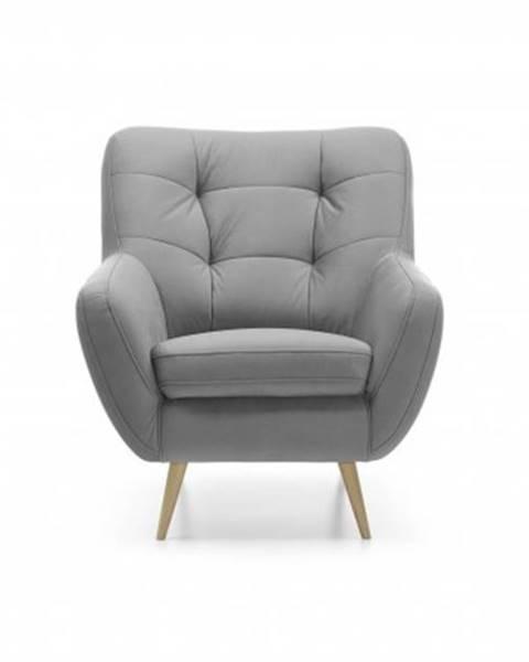 OKAY nábytok Moderné kreslo Scandi sivá