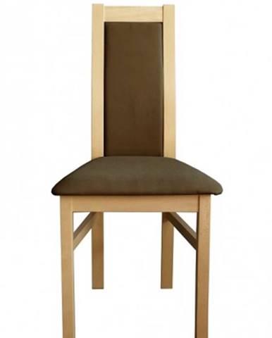Jedálenská stolička Agáta sonoma, hnedá