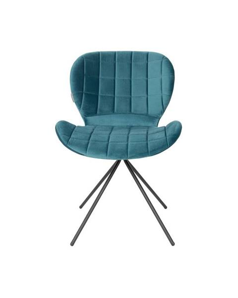 Zuiver Sada 2 petrolejovo modrých stoličiek Zuiver OMG Velvet