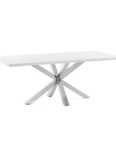 Biely jedálenský stôl s antikoro podnožím La Forma Arya, 160 x 100 cm