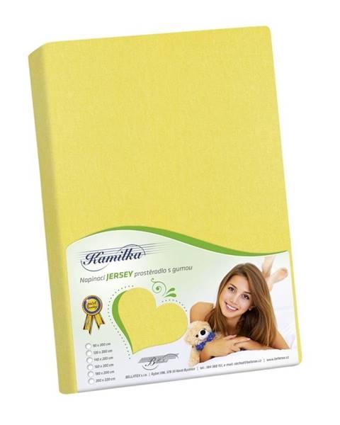 Bellatex Bellatex jersey prestieradlo Kamilka žltá, 90 x 200 cm