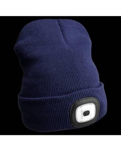 Sixtol Čiapka s čelovkou 45 lm, USB, uni, modrá