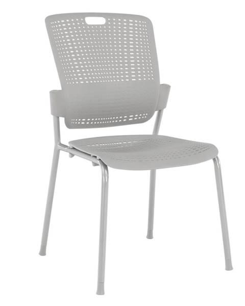 Tempo Kondela Stohovateľná stolička sivá NERGIS rozbalený tovar