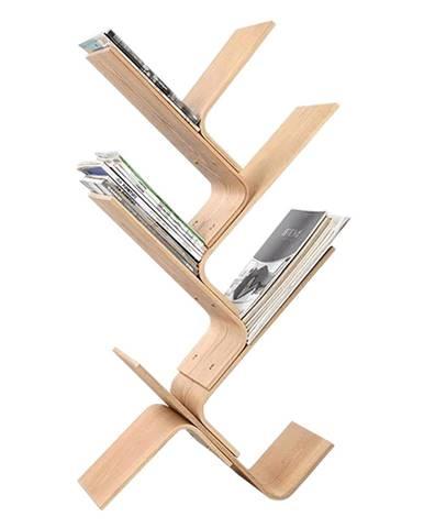 Regál prírodný bambus KORE