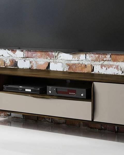 Bighome.sk SKANE TV stolík 180x48 cm, dub, tmavohnedá