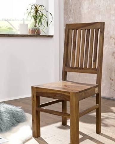 ROUND Stolička drevená, hnedá, palisander
