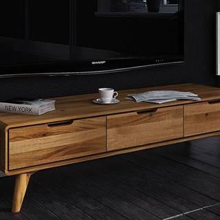 SKANE TV stolík 134x33 cm, dub, prírodná