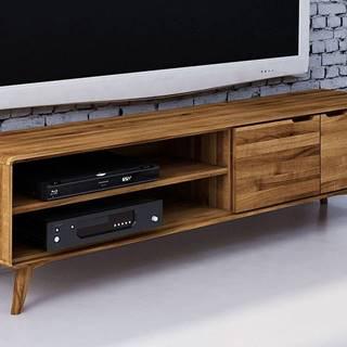 SKANE TV stolík I. 180x48 cm, dub, prírodná