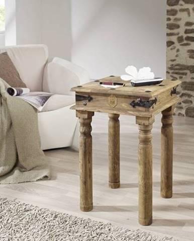 CASTLE Príručný stolík 40x40 cm, palisander