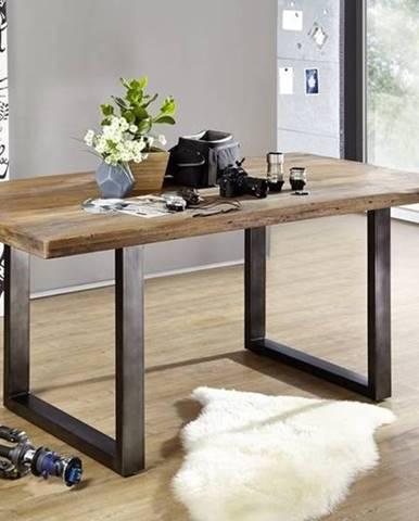 IRON Jedálenský stôl 160x90 cm, mango, prírodná