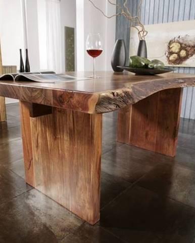 METALL Jedálenský stôl 170x110 cm, akácia