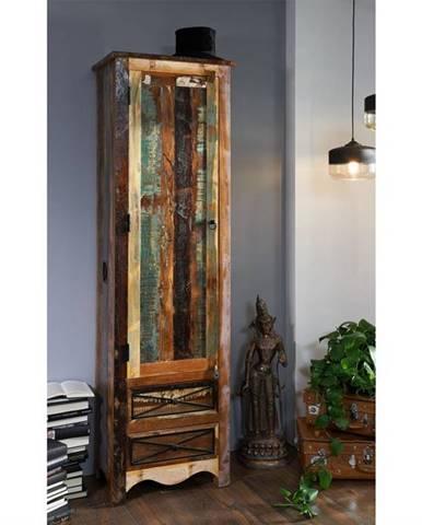 OLDTIME Skriňa na veci 200x60 cm, staré drevo