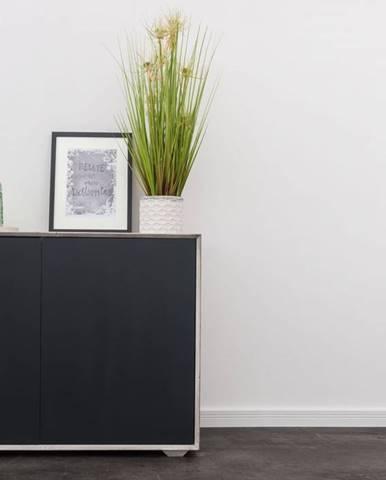 TAMPERE Komoda I. 78x110 cm, dub, svetlosivá