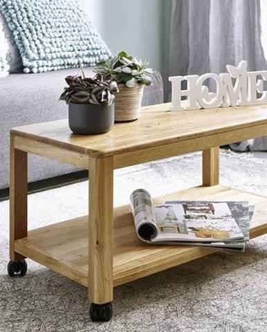 VIENNA Servírovací stolík 75x40 cm, dub