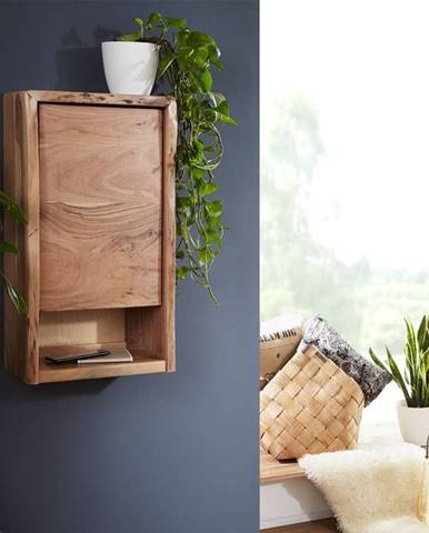 WOODLAND Závesná skrinka 40x70 cm, prírodná, akácia