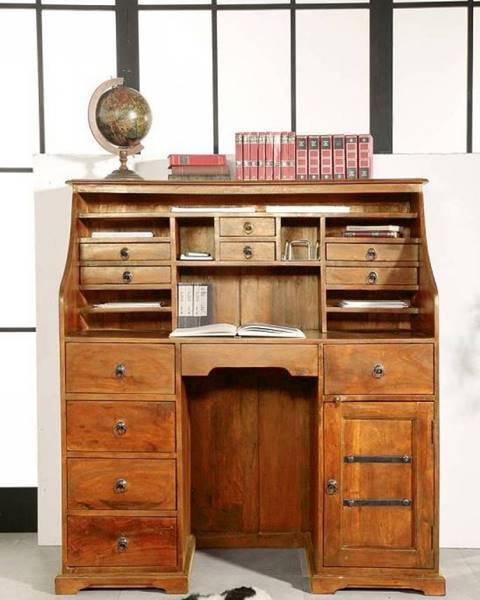 Bighome.sk CAMBRIDGE HONEY Písací stôl 128x58 cm, akácia