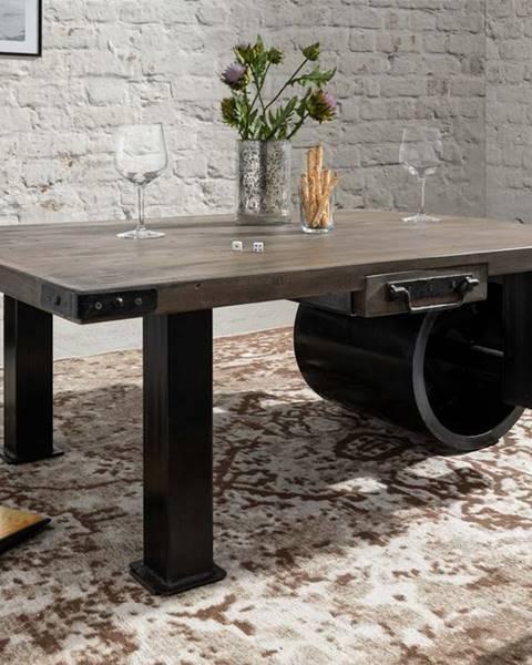 Bighome.sk IRON Konferenčný stolík 110x80 cm, mango, sivá