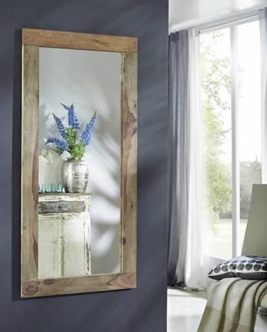 GREY WOOD Zrkadlo 145x70 cm, palisander