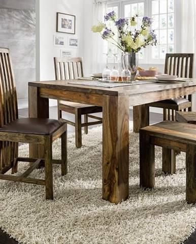 PLAIN SHEESHAM Jedálenský stôl 180x100 cm, palisander