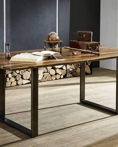 ROUND Jedálenský stôl METALL 160x90 cm