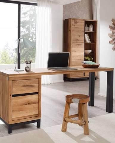 TIROL Písací stôl 150x55 cm, prírodná, dub