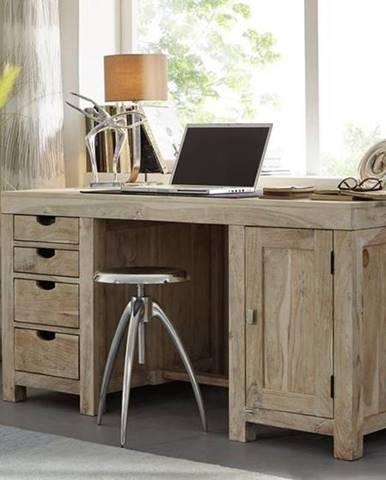 WHITE WOOD Písací stôl 150x75 cm, akácia