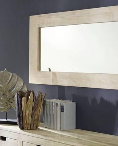 WHITE WOOD Zrkadlo 115x60 cm, akácia