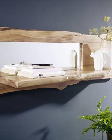 WOODLAND Nástenný regál 38x121 cm, prírodná, akácia