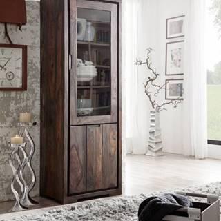PLAIN SHEESHAM Vitrína 180x60 cm, palisander