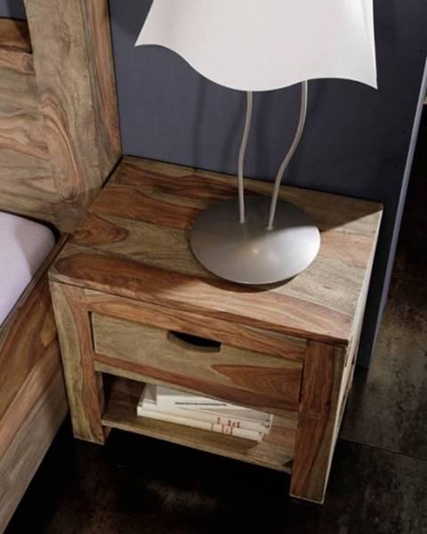 Bighome.sk GREY WOOD Nočný stolík 50x35 cm, palisander