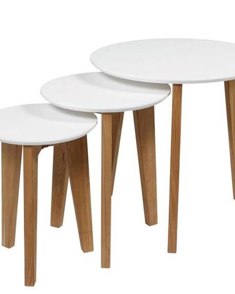 Bighome.sk Set konferenčných stolíkov ABIN, biela