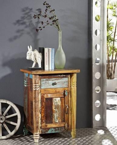 COLORES Nočný stolík 50x42 cm, staré drevo