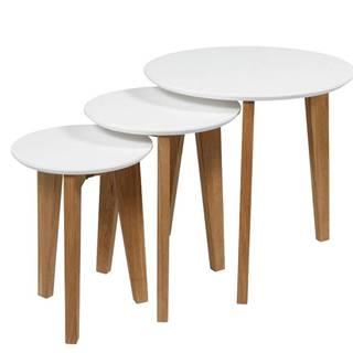 Set konferenčných stolíkov ABIN, biela
