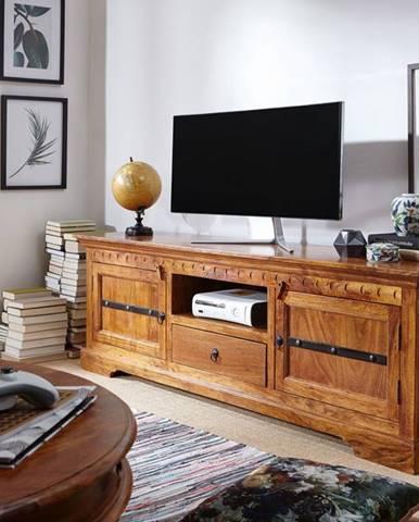 CAMBRIDGE HONEY TV stolík 170x55 cm, akácia