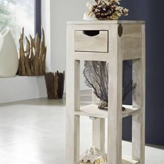 WHITE WOOD Príručný stolík 29x29x80 cm, akácia