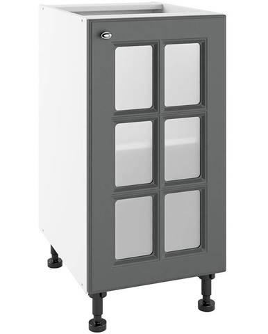 Kuchynská skrinka Bella Graphite Super Mat POWS 40