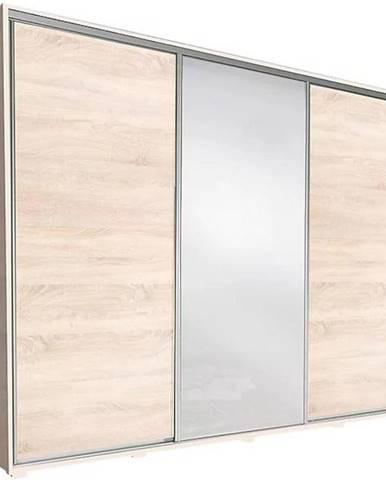 Skriňa Silver 255 cm dub sonoma