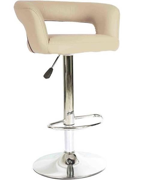 MERKURY MARKET Barová stolička Jupiter krémová 7166