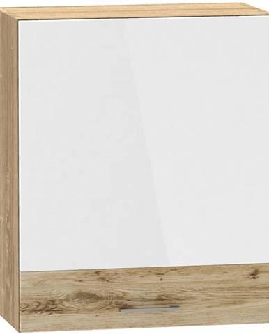 Kuchynská skrinka Mocca W60 P/L macate/biely lesk  BB