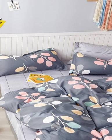 Bavlnená saténová posteľná bielizeň albs-01050b/2 140x200 lasher
