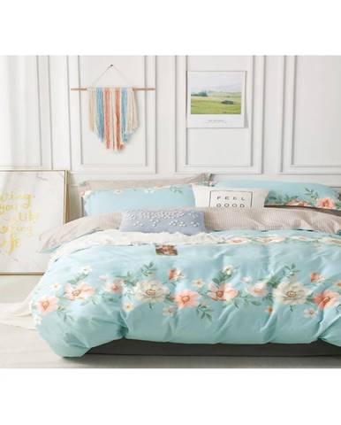 Bavlnená saténová posteľná bielizeň albs-01055b/2 140x200 lasher