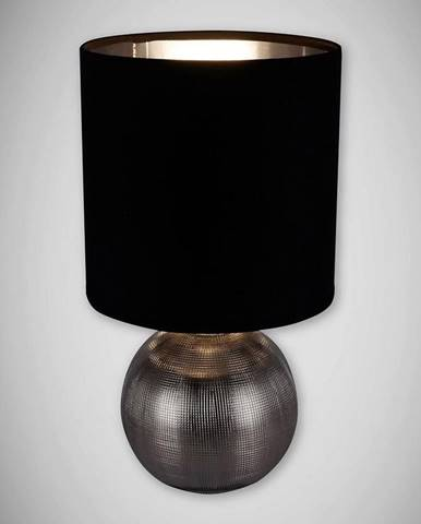 Luster Perlo E14 strieborná / čierna 03290 LB