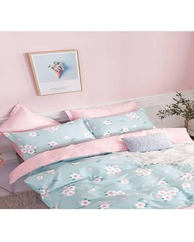 Bavlnená saténová posteľná bielizeň albs-01036b/2 140x200 lasher
