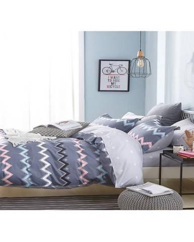 Bavlnená saténová posteľná bielizeň albs-0997b/2 140x200 lasher