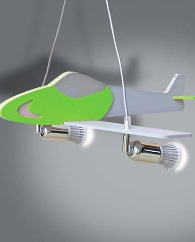 Lampa lietadlo zelená/strieborná L2-26 LW2