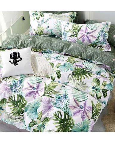 Bavlnená  saténová  posteľná  bielizeň  Albs-01102b/2  140x200