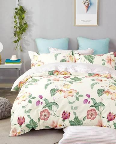 Bavlnená  saténová  posteľná  bielizeň  Albs-01115b/2  140x200