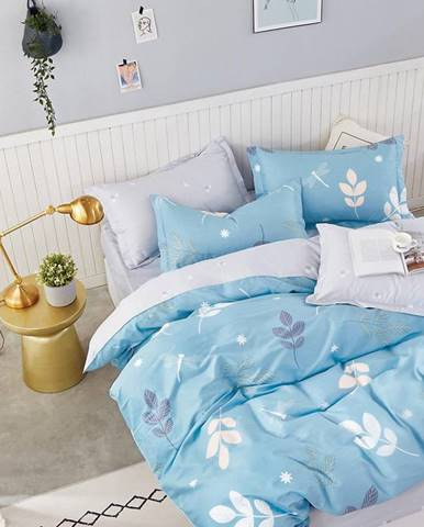 Bavlnená  saténová  posteľná  bielizeň  Albs-01123b/2  140x200